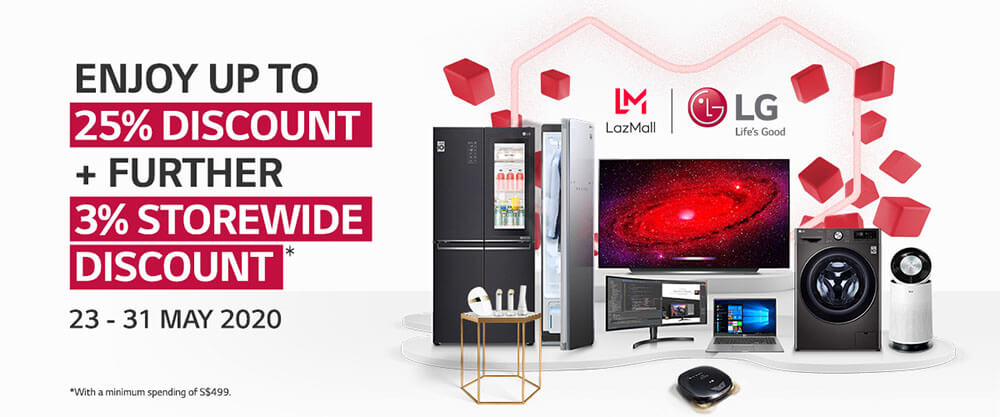 Grand Opening Deals on LG Electronics' Flagship Lazada Store