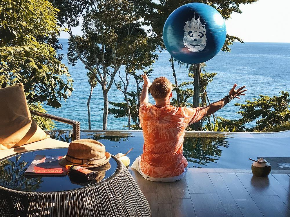 Abandoned Wilson found floating around Phuket Hotel