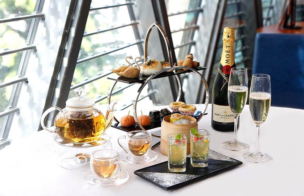 Dim Sum Afternoon Tea Set with Moët & Chandon Champagne at JUMBO Seafood ION Orchard