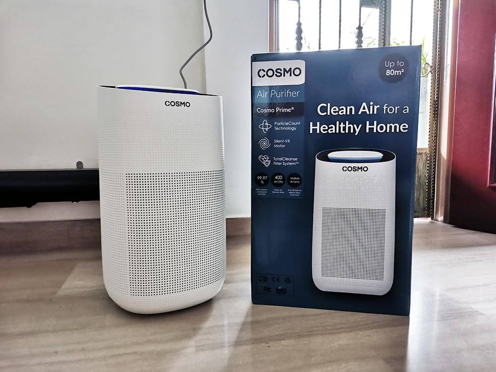 Enjoy clean air at home with Cosmo Prime Air Purifier